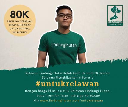 Kaos  Relawan logo