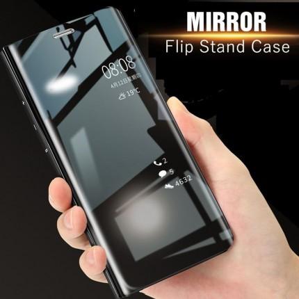 Clear View Flip Standing Cover Case Xiaomi Redmi Note 4 / 4X logo