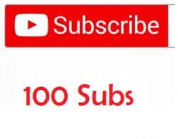 100 Youtube Subscribers logo