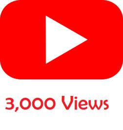 3,000 Youtube Views logo